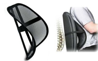 Ортопедическая накладка на стул для спины – выбираем