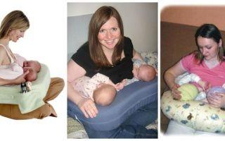 Подушка для кормления грудного ребенка, двойни – как пользоваться, виды