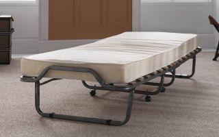 Ортопедическая раскладушка с матрасом — как выбрать