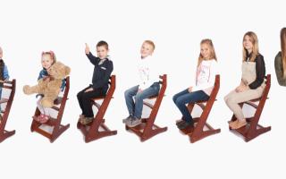 Детский растущий стул для школьника – вырастайка