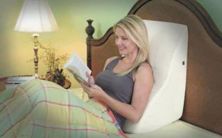 Подушка для чтения в кровати сидя, лежа – выбираем