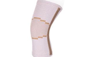 Бандаж на коленный сустав — эластичный, с ребрами жесткости, компрессионный
