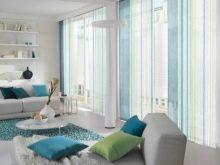 Бирюзовые шторы: примеры и фото в интерьере гостиной, спальни, кухни
