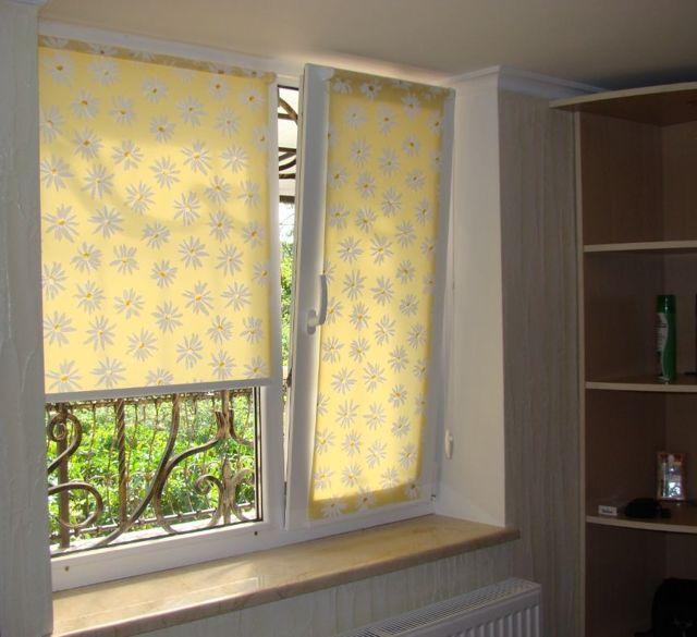 Виды комплектующих для рулонных штор на пластиковые окна