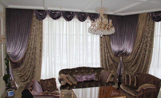 Бархатные шторы: велюр и бархат в интерьере спальни, варианты пошива, фото
