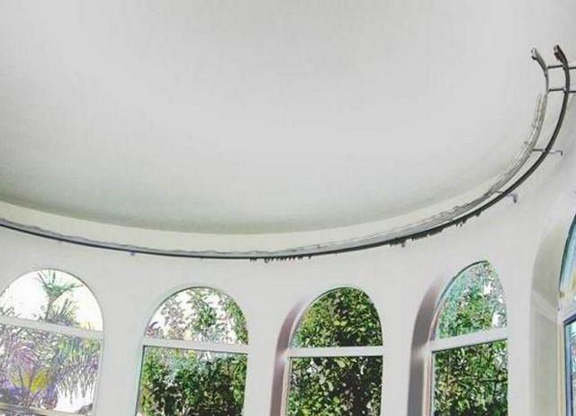 Гибкие карнизы для штор: потолочные и настенные, раздвижные