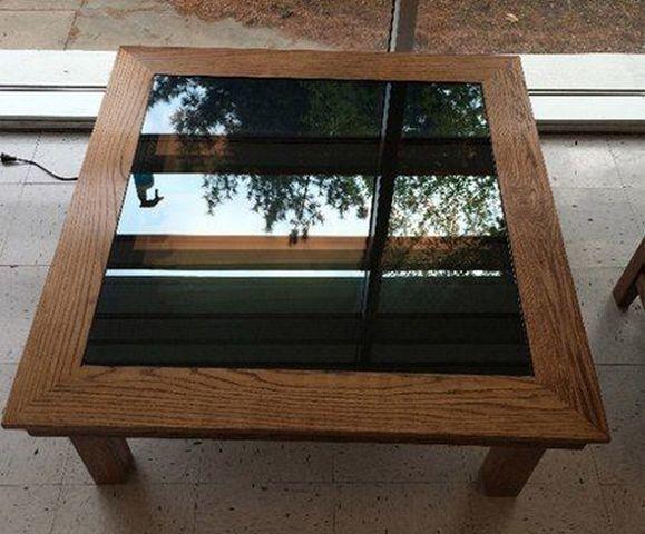 Делаем стильный столик с эффектом бесконечности: как выбрать и собрать