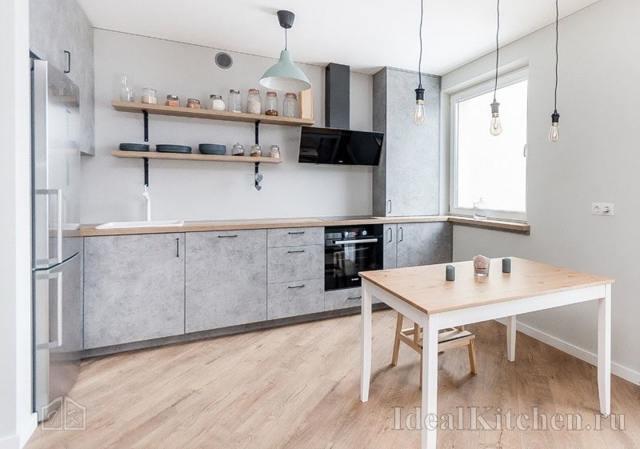 Кухни без верхних шкафов: как их применить в интерьере?