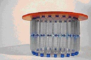 Мебель из пластиковых бутылок: фото и видео-инструкции