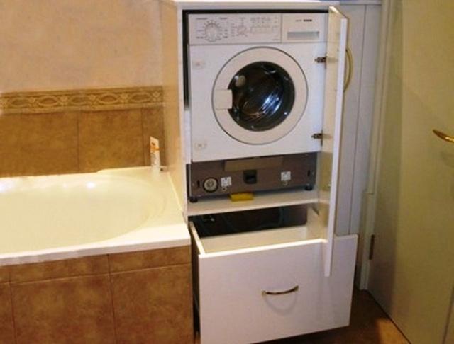 Шкаф над стиральной машиной в ванной: как сделать своими руками?