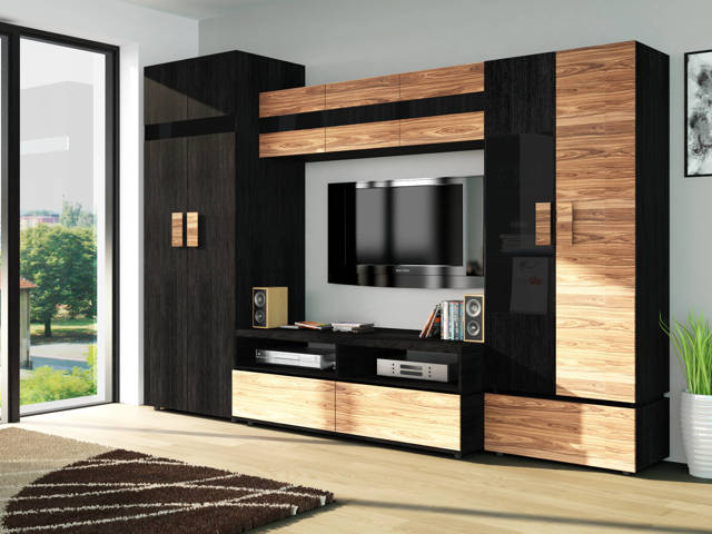 Шкаф-купе в гостиную на всю стену: 75 идей дизайна в интерьере