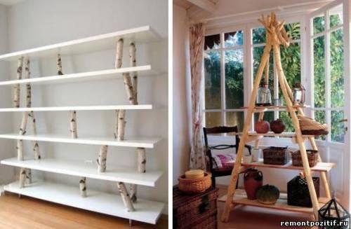 Этажерка своими руками: дизайн, конструкция и декорирование