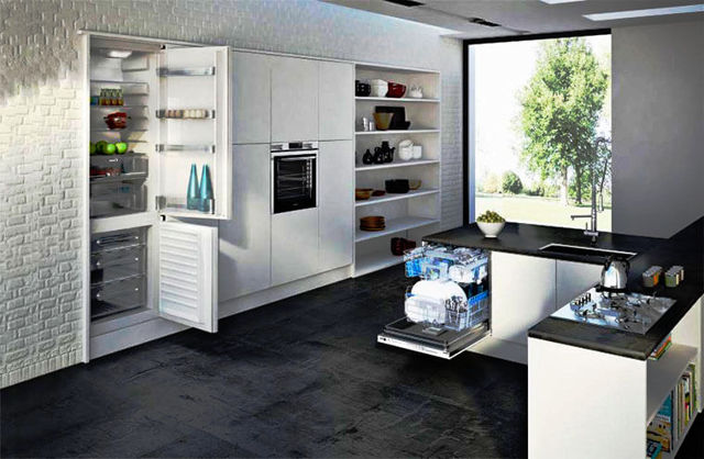 Шкаф для встроенного холодильника: особенности выбора