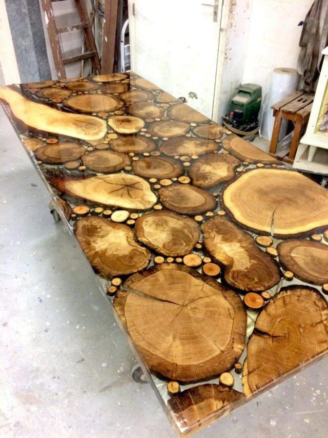 Стол из спила дерева своими руками: Пошаговый процесс, фото-идеи