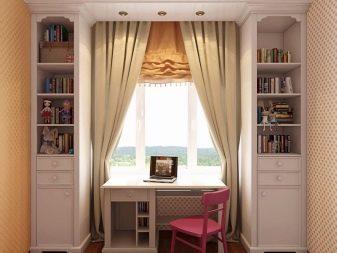 Письменный стол для двоих детей: особенности размещения у окна