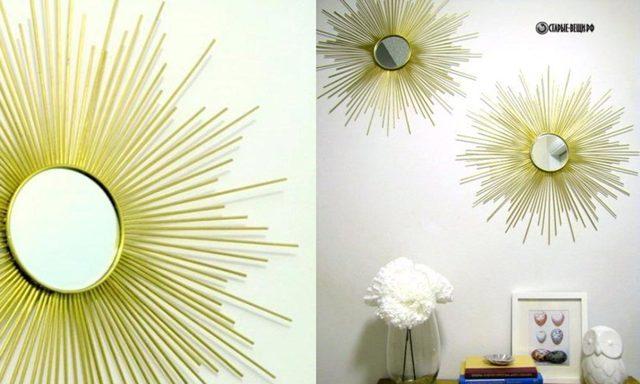 Зеркало-солнце своими руками: выбор дизайна для изготовления