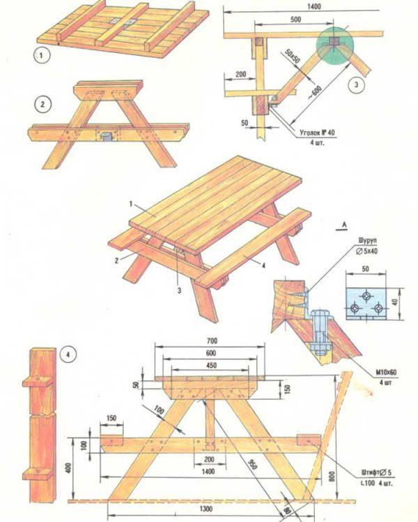 Как сделать дачный стол своими руками: выбор крепкой конструкции