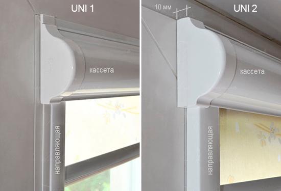 Разновидности рольштор с направляющими для пластиковых окон