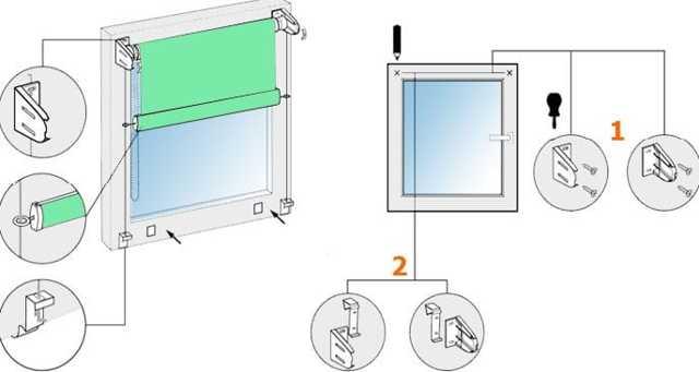 Способы крепления рулонных штор на пластиковое окно, необходимые инструменты