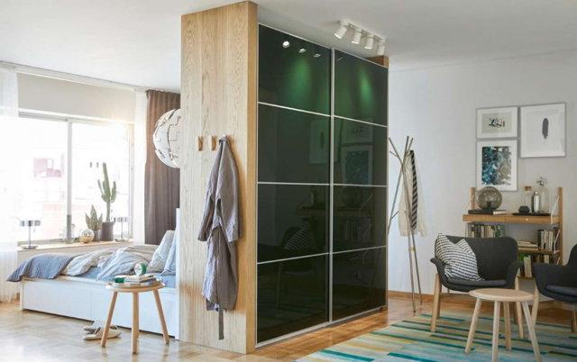 Шкаф-перегородка для красивого и эффективного зонирования