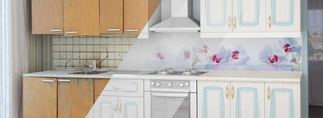 Реставрация кухонного гарнитура: техники и интересные решения