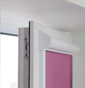Рулонные шторы с направляющими на пластиковые окна: кассетные в коробе uni